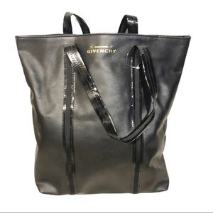 Givenchy Parfums Faux Leather Black Tote Bag NWOT